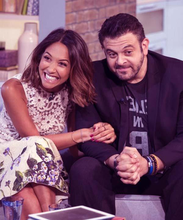 Image of Adam Richman with his host Myleene Klass