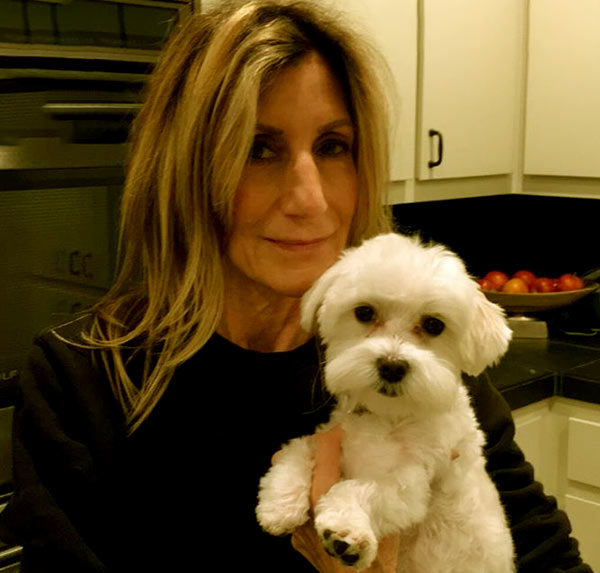 Image of Ernestine Sclafani with her dog named Hazal Sclafani Bayless