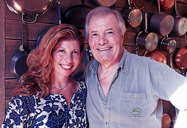 Image of Caption: Jacques Pepin with his daughter Claudine