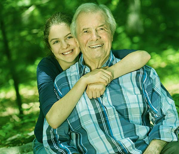 Image of Jacques Pepin with his granddaughter Shorey Wesen