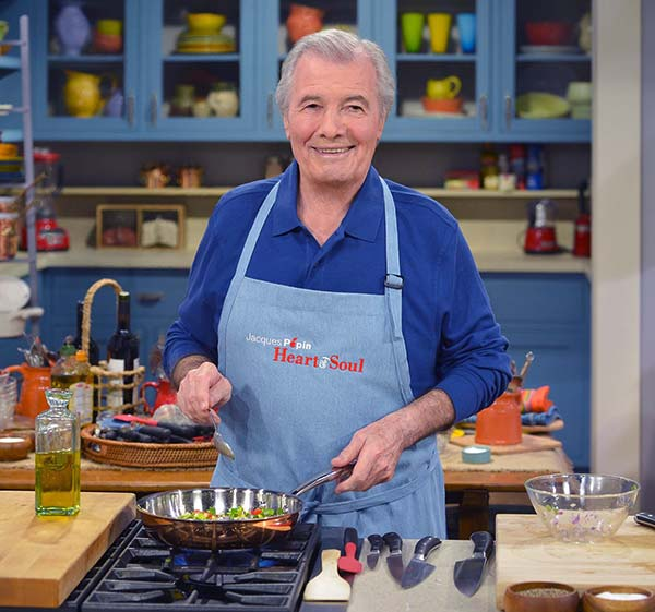 Image of Jacques Pepin from the TV show, Jacques Pepin Heart and Soul