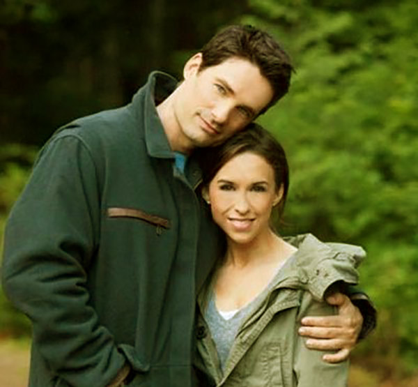 Image of David Nehdar with his wife Lacey Chabert