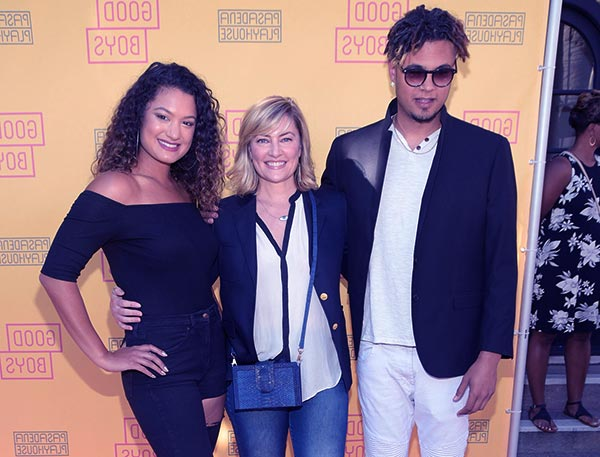Image of David Alexis wife Madchen with kids Mina and Sylvester Time Amick-Alexis