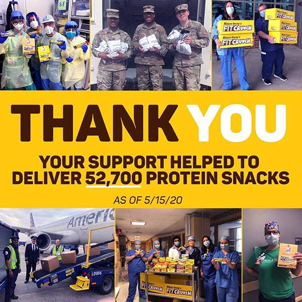 Image of Robert Irvine foundation donated over 52,700 protein snacks to hospitals, military