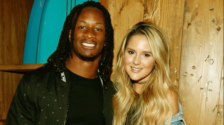 Image of Todd Gurley Wife-to-be Girlfriend Olivia Davison. His Net Worth and Salary.