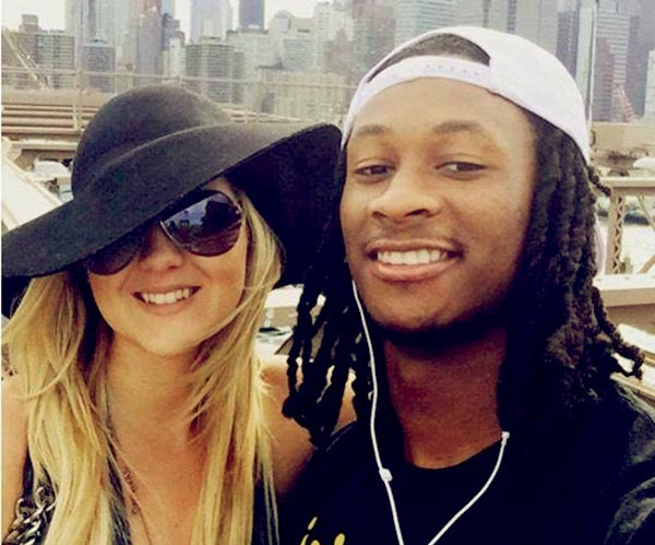 Image of Todd Gurley with his girlfriend Olivia Davison