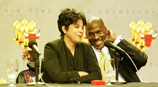 Image of Michael Jordan and his ex-wife Juanita