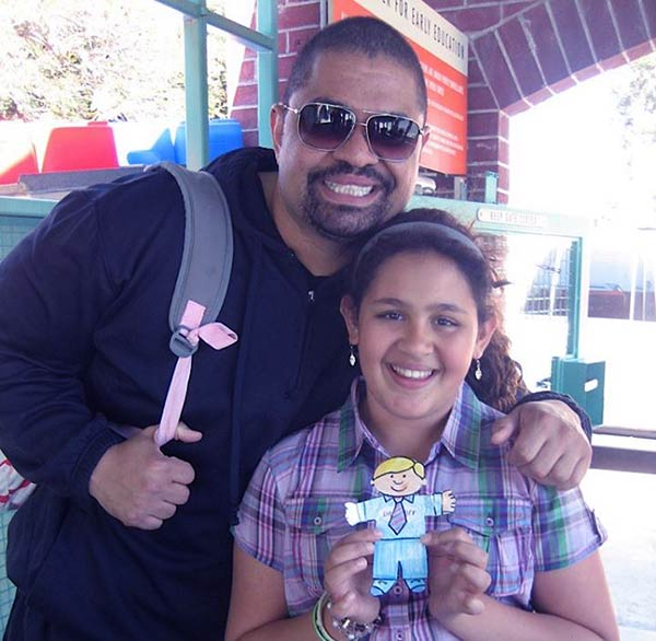 Image of Xea Myers with her late father Heavy D