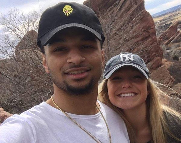 Image of Harper Hempel with her boyfriend Jamal Murray